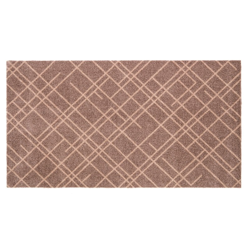 Tica Cph. Smudsmåtte m. Lines Sand/Beige 67x120cm-31