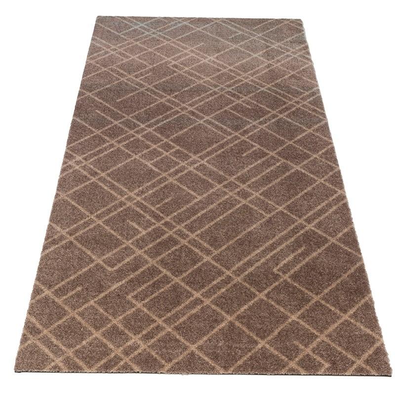 Tica Cph. Smudsmåtte m. Lines Sand/Beige 67x150cm.-31