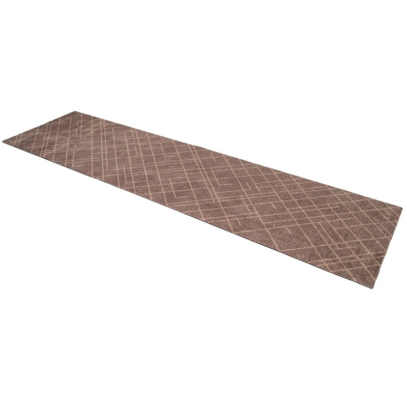 Tica Copenhagen Smudsmåtte m. Lines Sand/Beige 67x250cm.-31