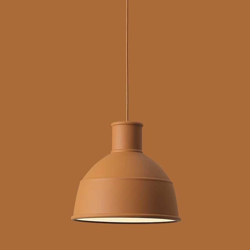 flot muuto unfold terracotta lampe dansk design k b p designme designme. Black Bedroom Furniture Sets. Home Design Ideas