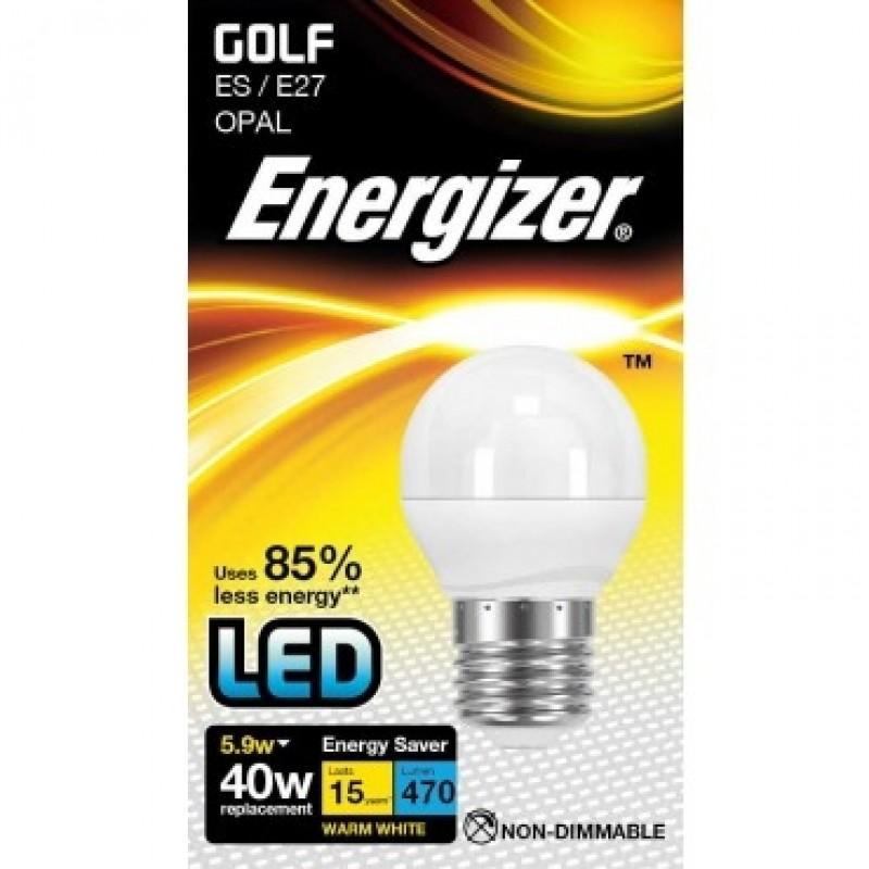 ENERGIZER LED Pære Krone Varm Hvid E27 5.9W-31