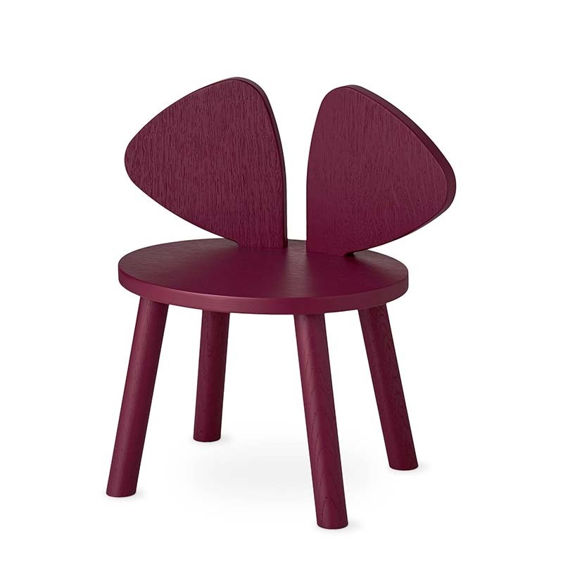 Nofred Mouse Stol Burgundy-31