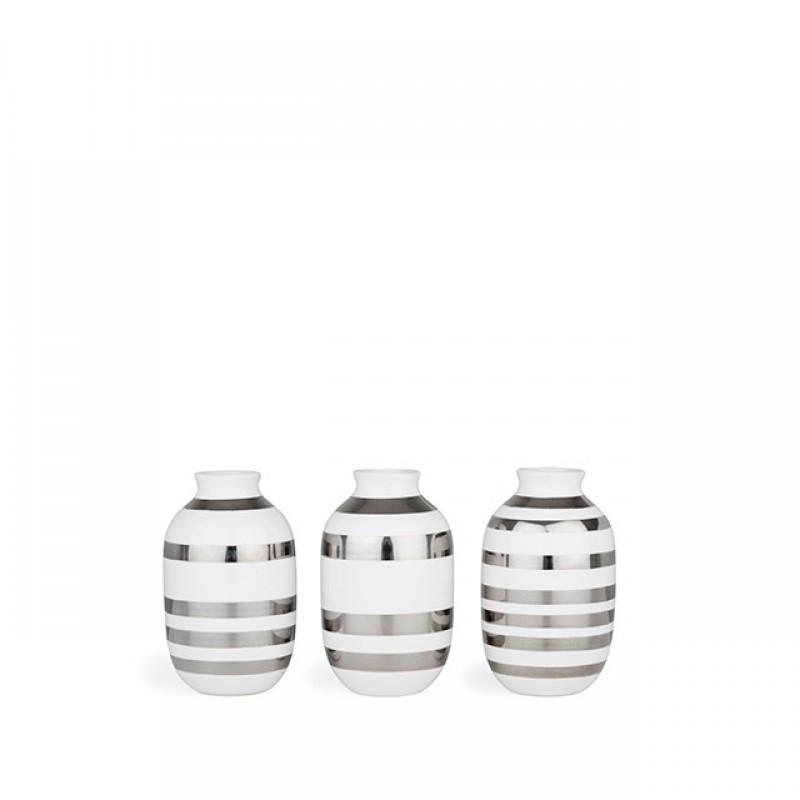 Kähler Omaggio Vaser 3-pak H80 Sølv-31