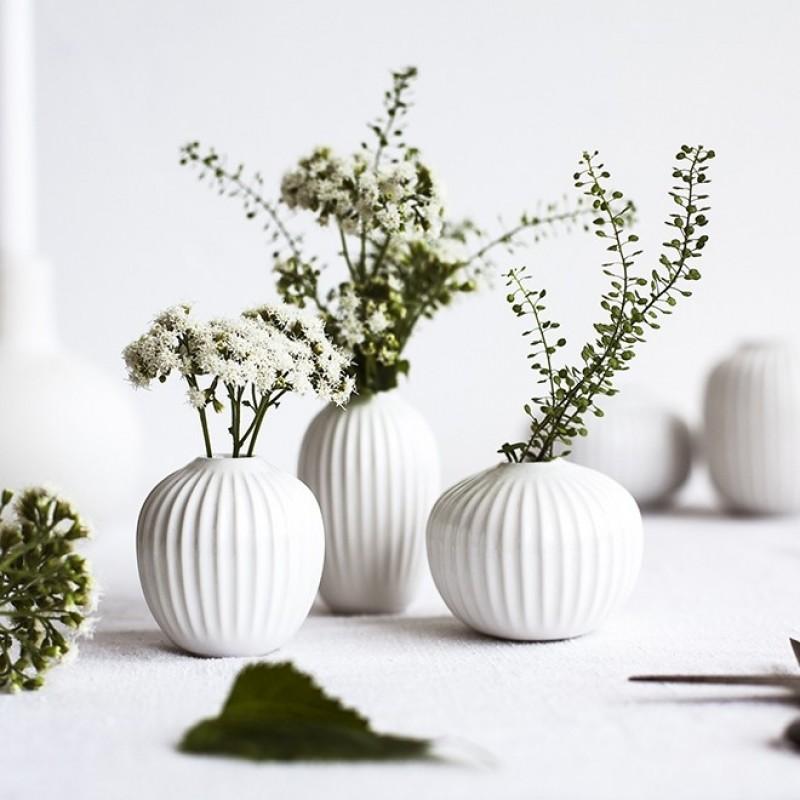 Kähler Hammershøi Miniature Vaser 3-pak. Hvid-31