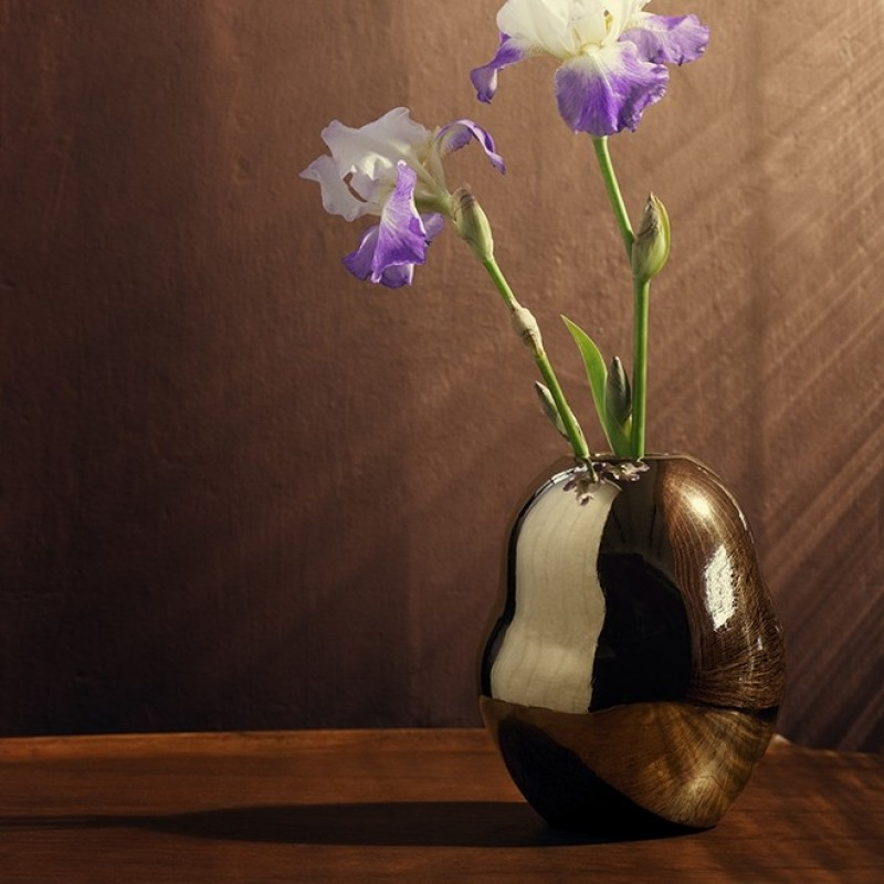 Kähler Fiora Vase Guld-31