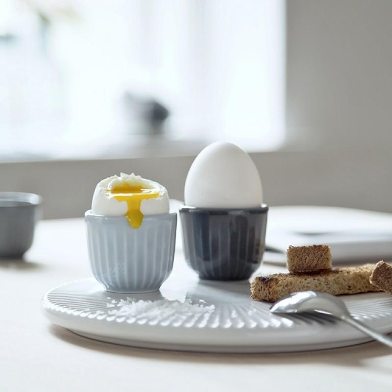 Kähler Hammershøi æggebæger 2 pak. Marmorgrå-31