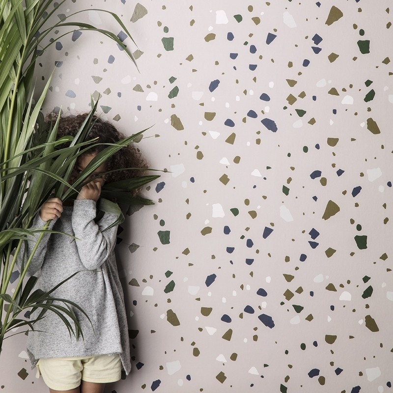 Ferm Living Tapet Terrazzo Rosa-31