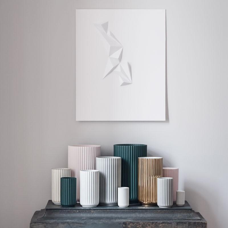 Lyngby Porcelæn Vase Grøn 12 cm-31