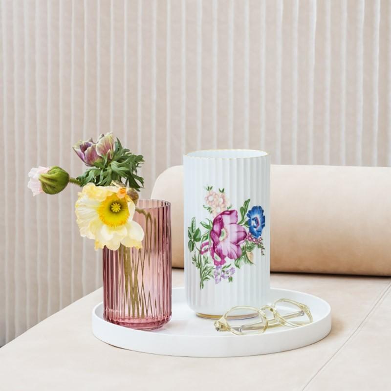 Lyngby Porcelæn Vase Blomster 20 cm-31