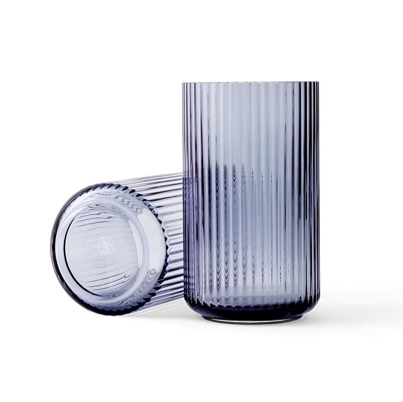 Lyngby Porcelæn Glas Vase Blå 25 cm-31