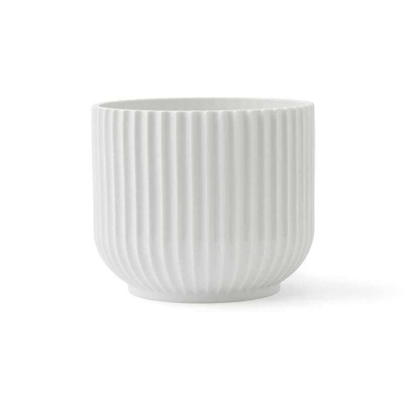 Lyngby Porcelæn Urtepotte Hvid Mellem-31
