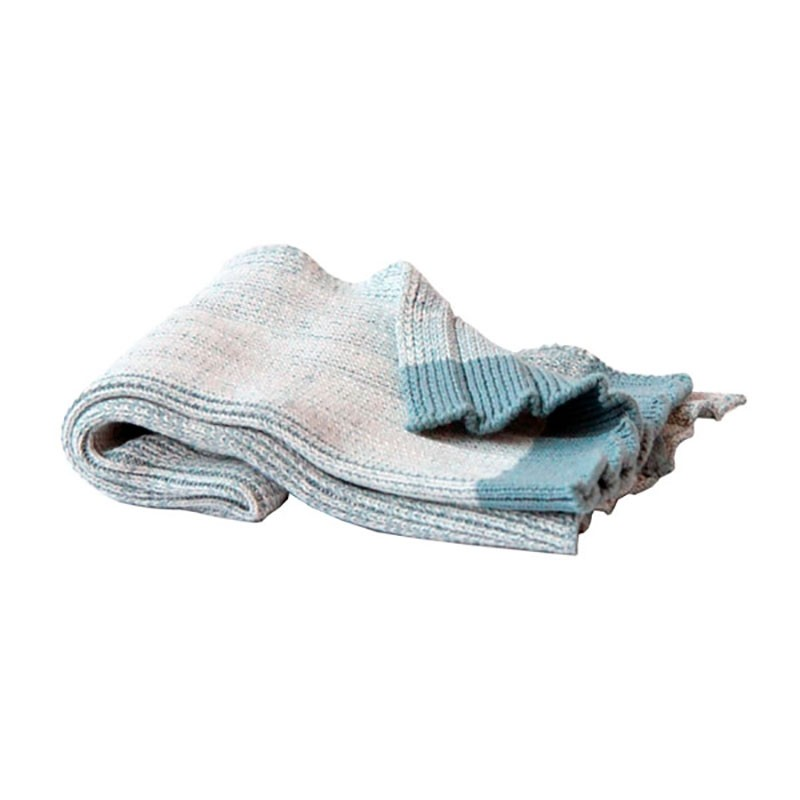 Semibasic Plissé Håndklæde HAND Blå-31