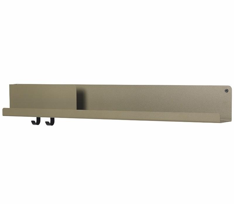 Muuto Folded Shelves Hylde Large Oliven Grøn-31