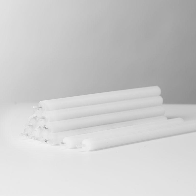 Stoff Nagel Kertelys Hvid 12 stk.-31
