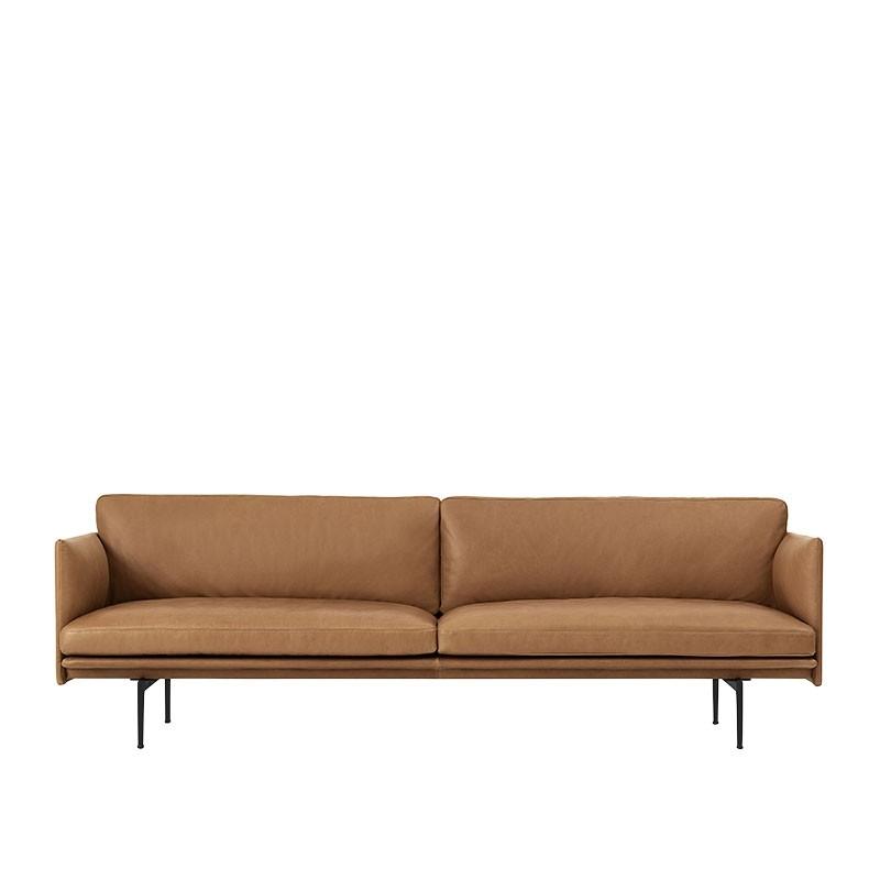 Muuto Outline 3. Pers. Sofa Cognac Silke Læder-31