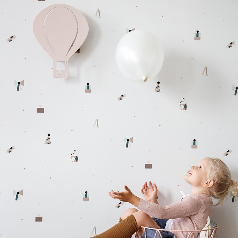 Ferm Living Børne Lampe Air Balloon Rosa-31