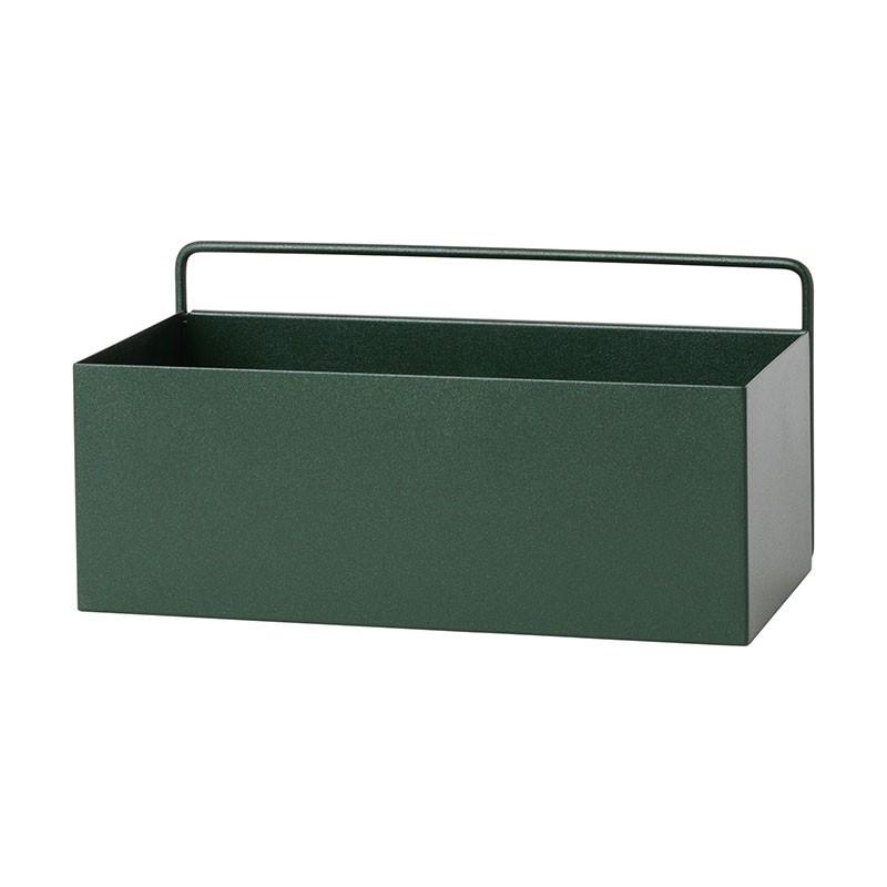 Ferm Living Wall Plant Box Rektangulær Mørkegrøn-31