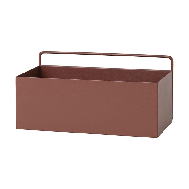 Ferm Living Wall Plant Box Rektangulær Rød Brun-31