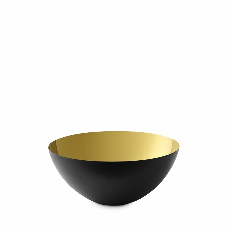 Normann Copenhagen Krenit Skål 12,5 cm. Guld-31