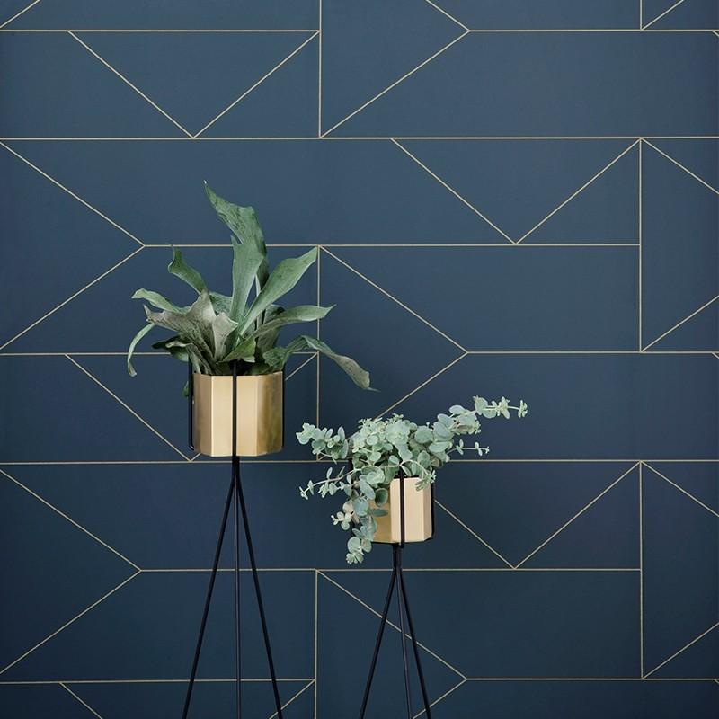 Ferm Living Hexagon Potte XLarge Messing-31