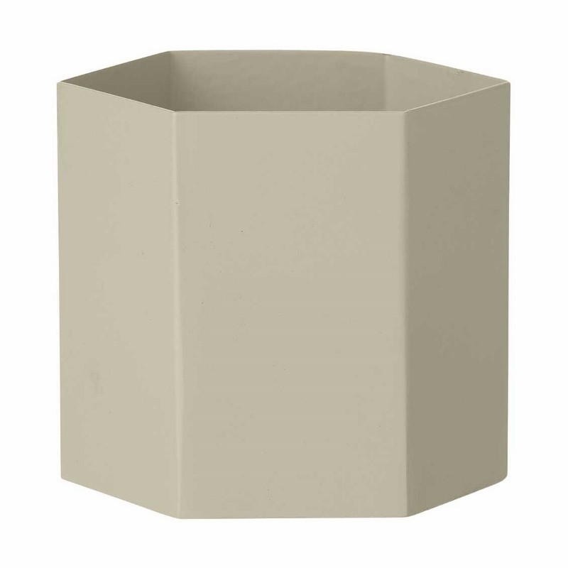 Ferm Living Hexagon Potte Large Lysegrå-31