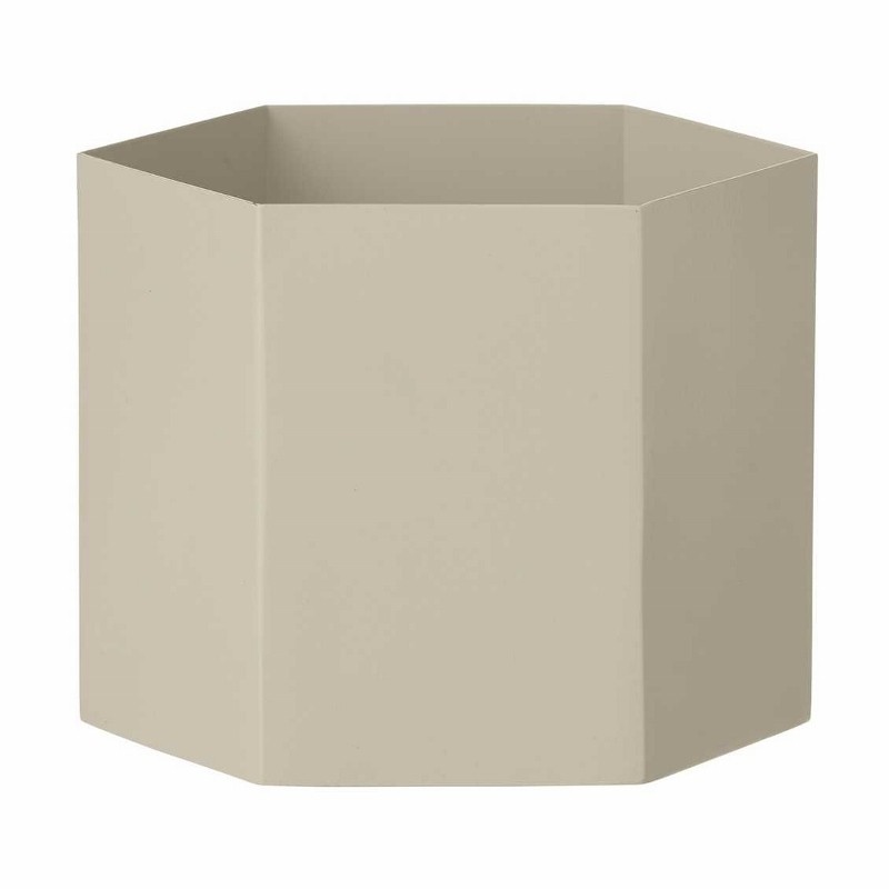 Ferm Living Hexagon Potte XLarge Lysegrå-31
