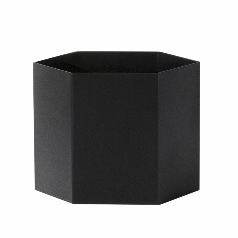 Ferm Living Hexagon Potte XLarge Sort-31