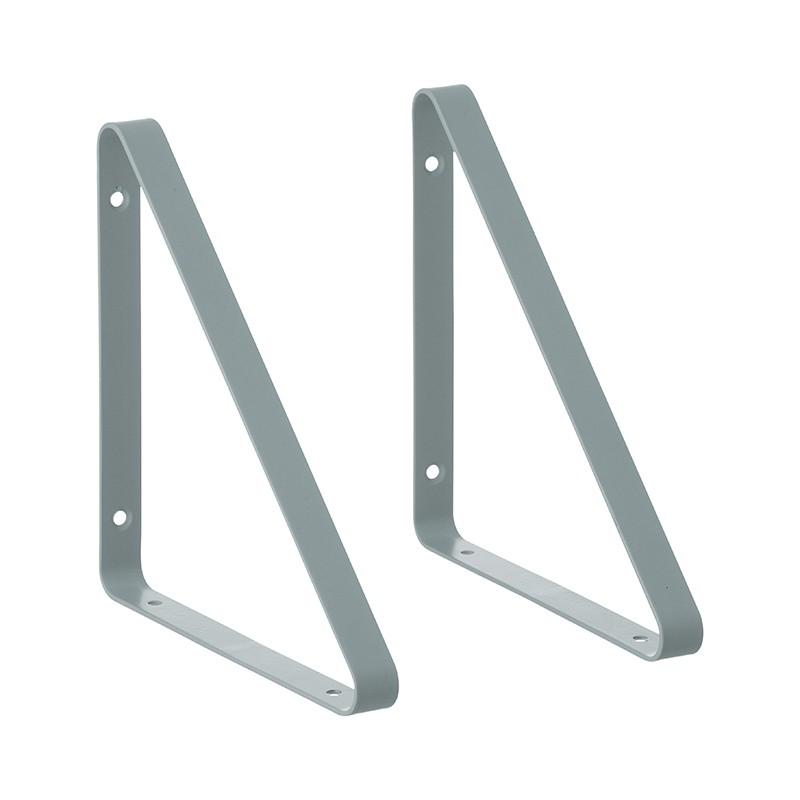 Ferm Living Metal Shelf Hangers Hyldeknægte i Støvet Blå-31