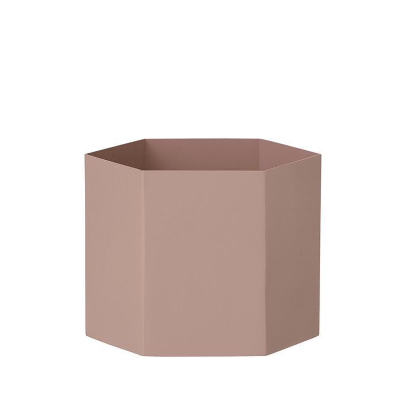 Ferm Living Hexagon Potte XLarge Rosa-31