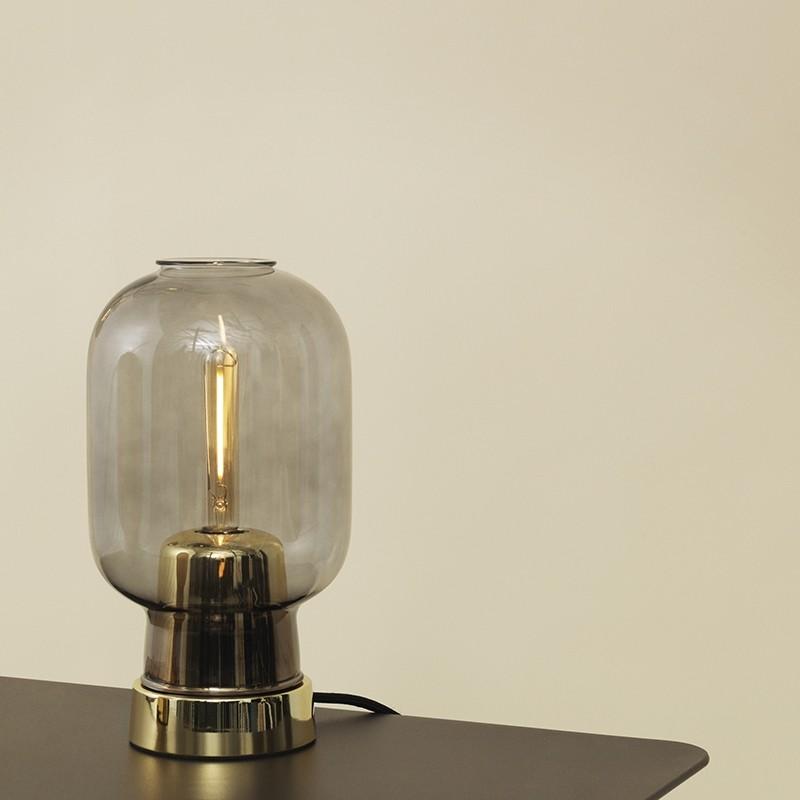 Normann Copenhagen Amp Bordlampe Smoke/Brass-31