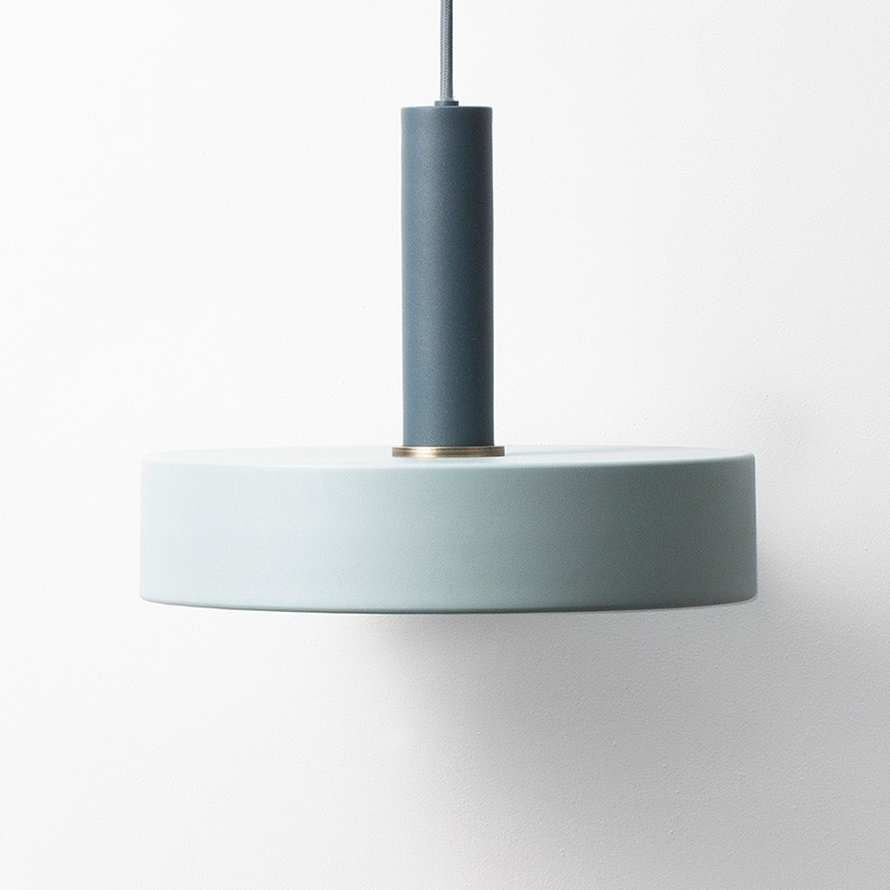 Ferm Living Lampeskærm Record Shade Dusty Blue-31