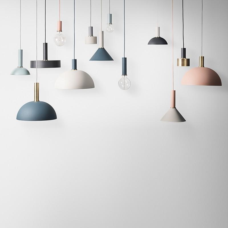 Ferm Living Lampeskærm Cone Shade Lysegrå-31