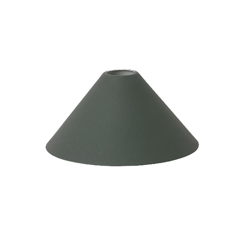 Ferm Living Lampeskærm Cone Shade Mørkegrøn-31