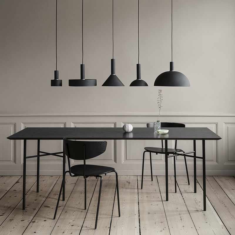 Ferm Living Lampeskærm Cone Shade Sort-31