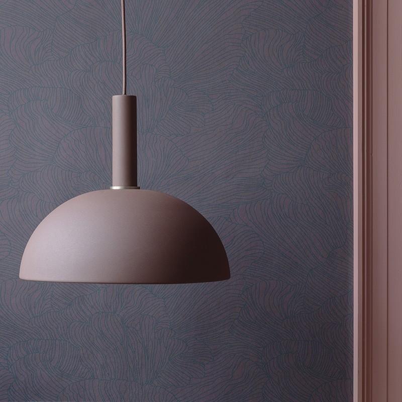 Ferm Living Lampeskærm Dome Shade Rødbrun-31