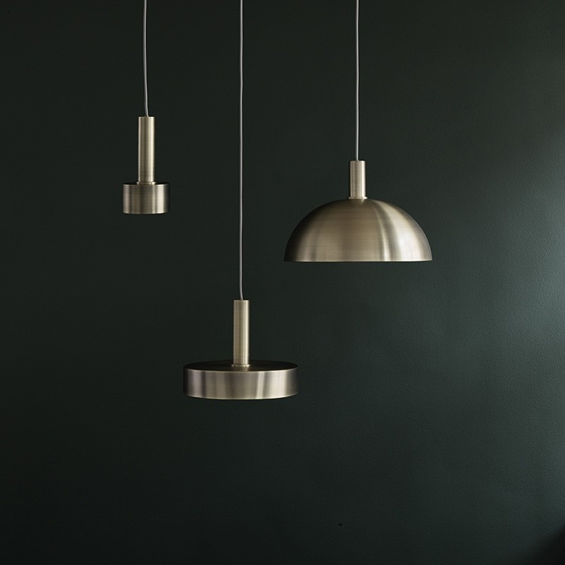 Ferm Living Lampeskærm Dome Shade Messing-31