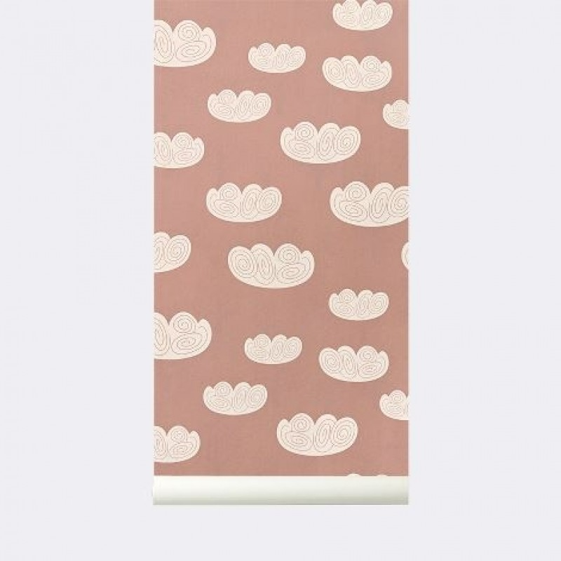 Ferm Living Tapet Cloud Rosa-31