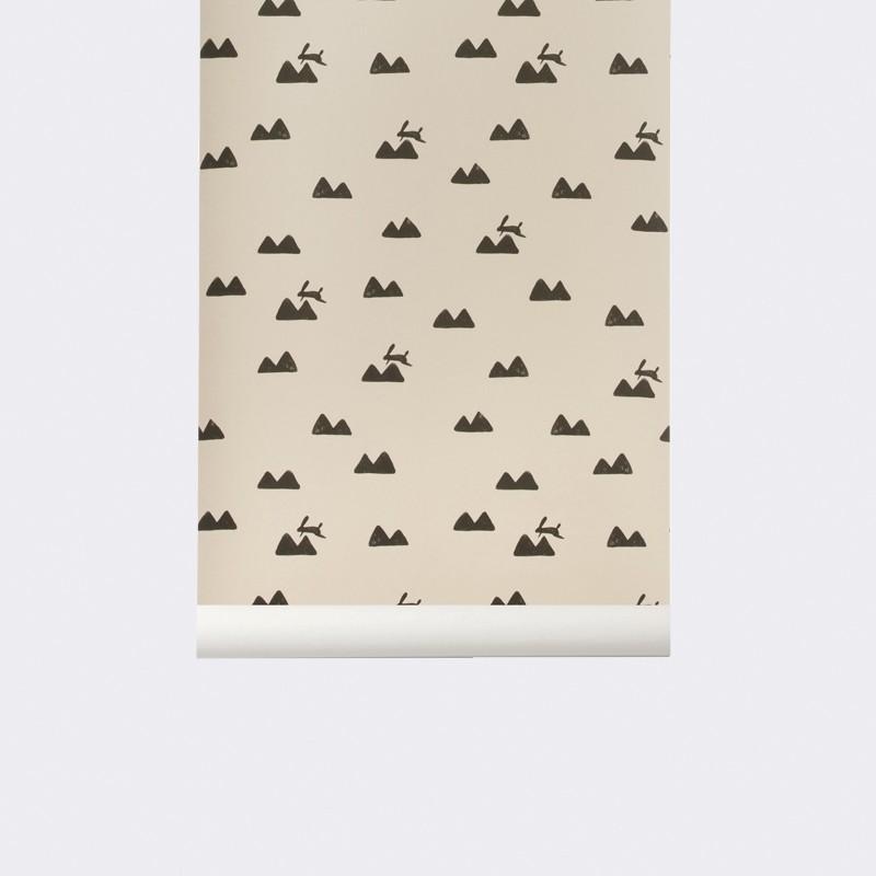 Ferm Living Tapet Rabbit Rosa-31