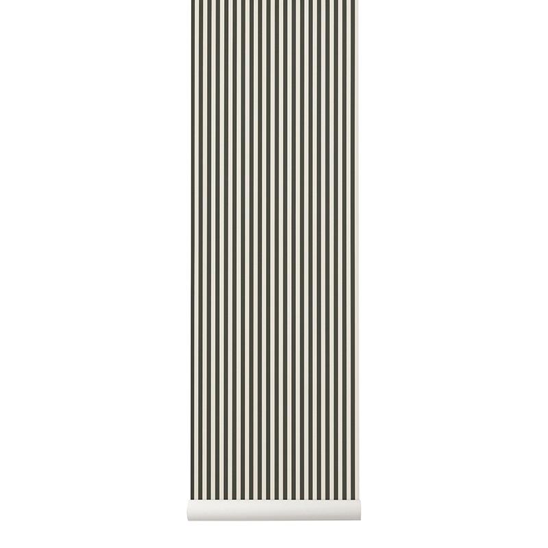 Ferm Living Tapet Thin Lines Grøn Hvid-31
