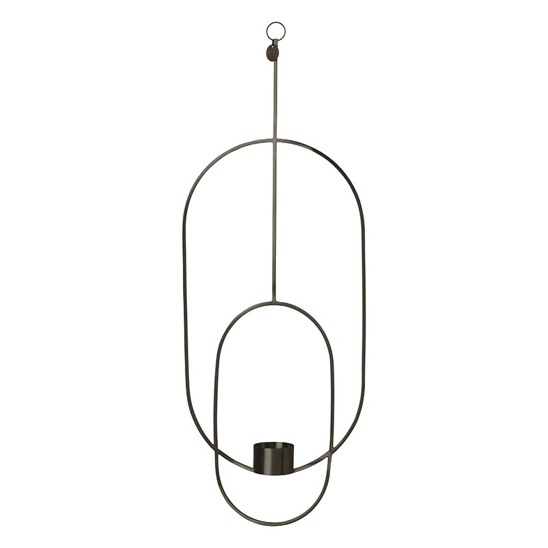 Ferm Living Hanging Fyrfadsstage Deco Oval Sort-31