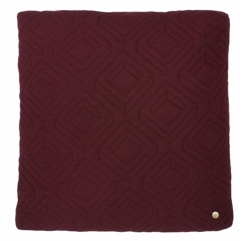 Ferm Living Quilt Pude Bordeaux 45 x 45 cm.-31