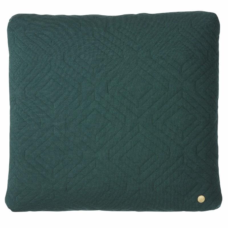 Ferm Living Quilt Pude Mørkegrøn 45 x 45 cm.-31
