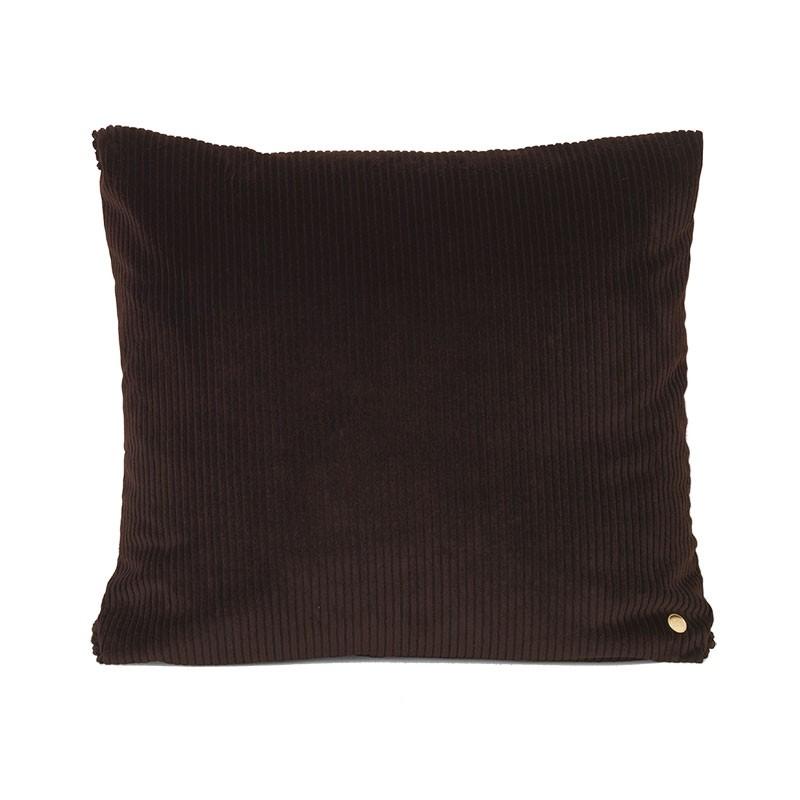 Ferm Living Corduroy Pude Chokolade 45 x 45 cm-31