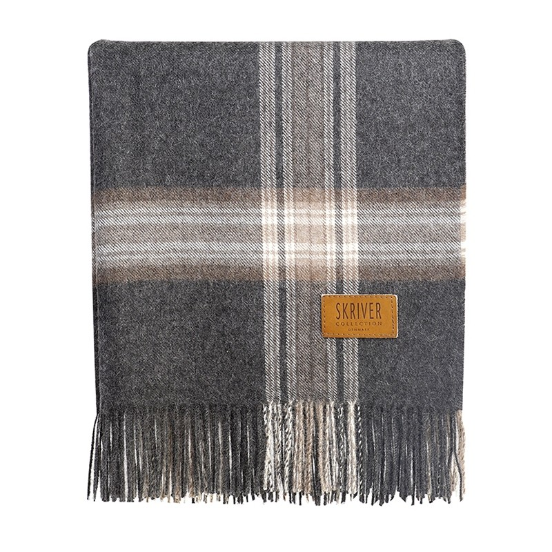 Skriver Collection Baby Alpaca Plaid Brun/Grå-31