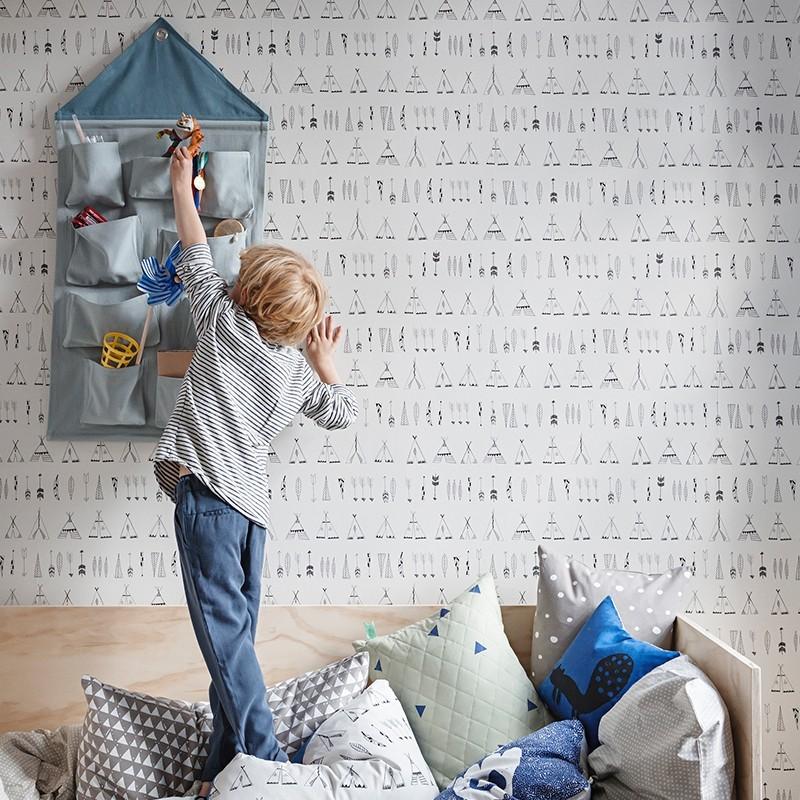 Ferm Living House Wall Storage Støvet blå-31