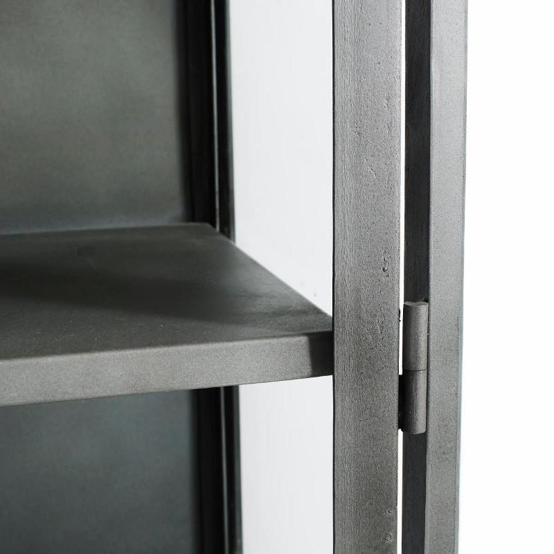 Muubs Iron Glasskab Høj m. 2 glasdøre Sort Jern-31