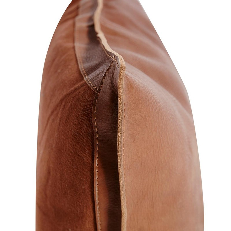 Muubs Mocca Læder Pude Brun-31