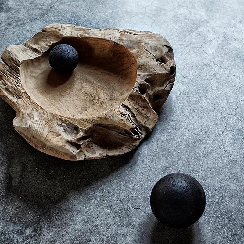 Muubs Rustik skål i teaktræ 60 cm-31