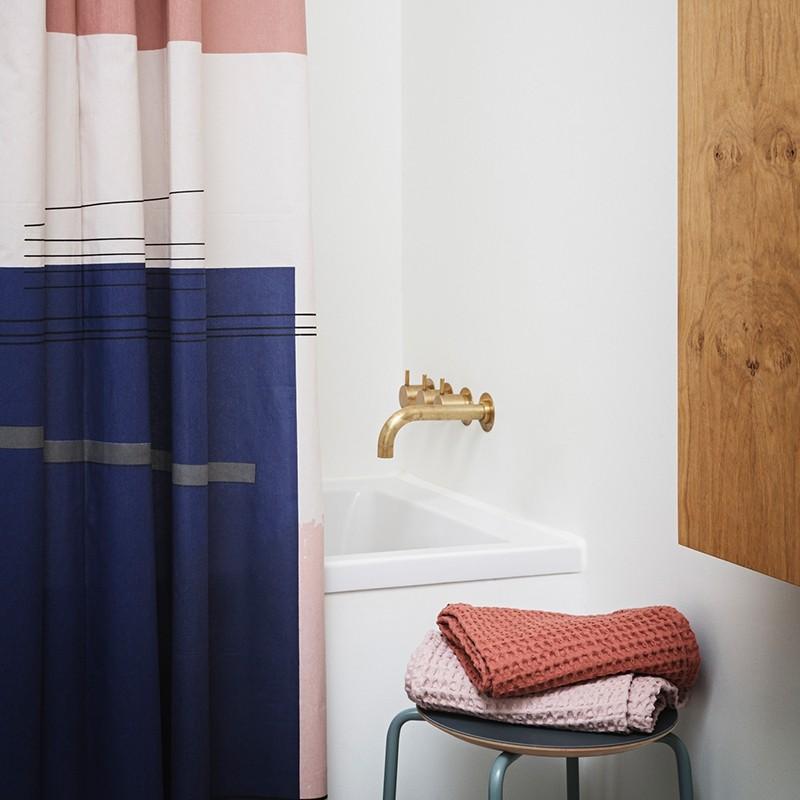 Ferm Living Bade Håndklæde 70 x 140 cm Mørkeblå-31