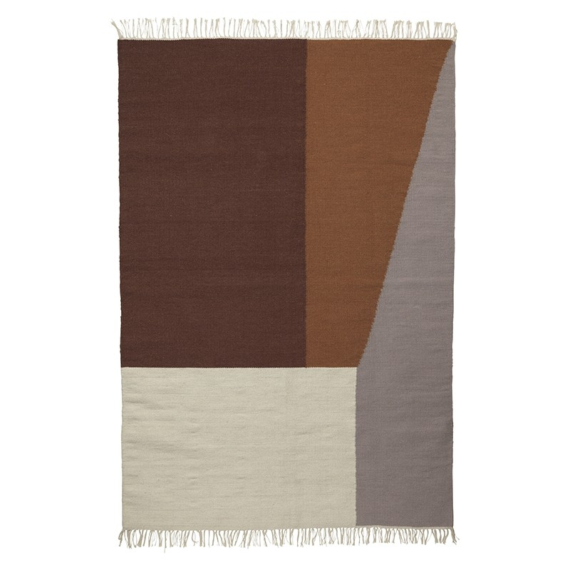 Ferm Living Kelim Tæppe Borders X-Large-31